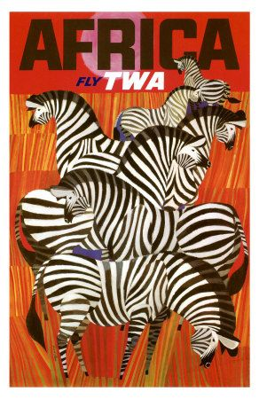 Vintage TWA Africa poster