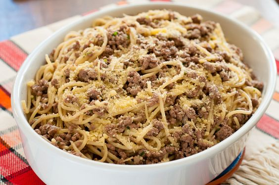 espaguete com carne moida - Pesquisa Google