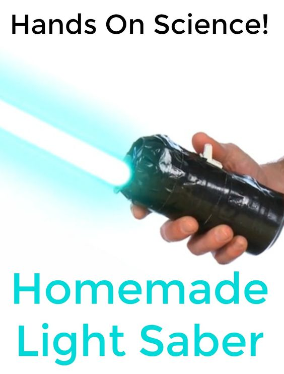 Use the force and hands-on science know-how to become a Jedi master and defeat the Empire with a homemade DIY light saber. Awesome STEM kid activity for Star Wars fans! (affiliate)