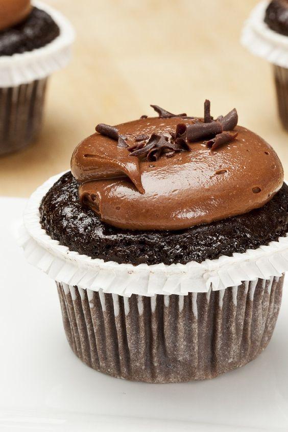 Secret-Ingredient Devil's Food Cupcakes Dessert #Recipe