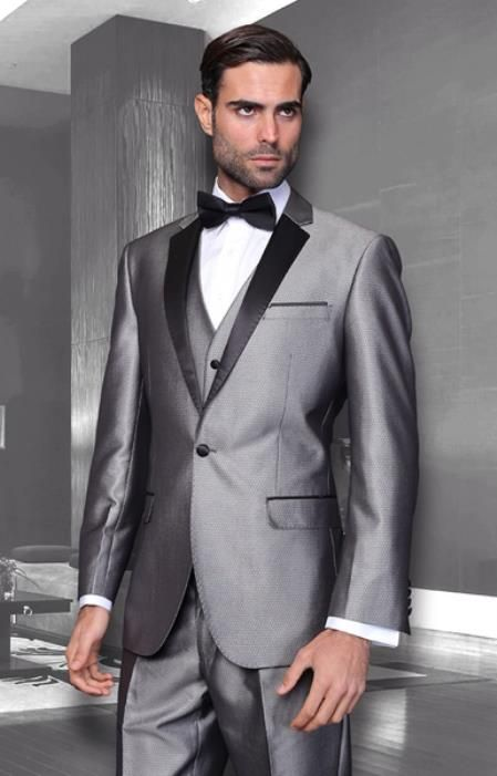 SKU#PN19 Mens Unique Bright Colorful Tuxedo Or Suit With Vested 3