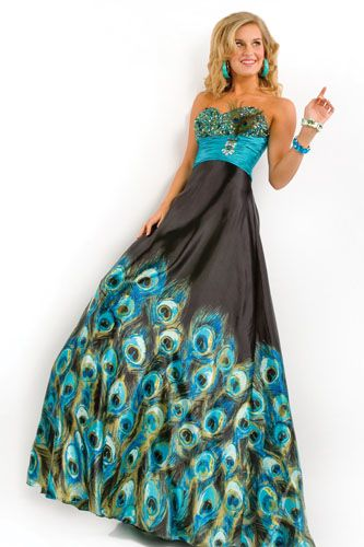 I&-39-m really loving this whole peacock prom dress idea! - stYle ...