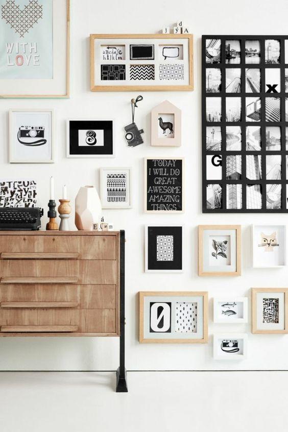 moderne wandgestaltung mit bildern wohnzimmer wände gestalten, Mobel ideea