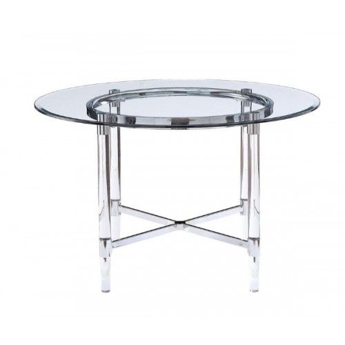 Glass Acrylic Metal Round Top Dining Table In 2020 Decorațiuni