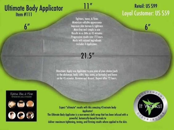 This is what its all about! The dimensions of the applicator. https://wraproseville.myitworks.com/Shop/Product/135