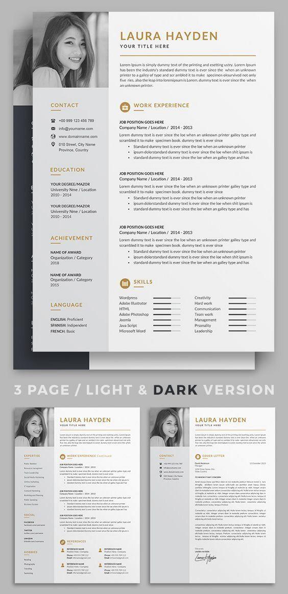 Professionnel De Reprendre Le Modele Minimaliste Cv 2 Cv Page Modele De Lettre De Mot Desain Cv Cv Kreatif Tipografi 3d