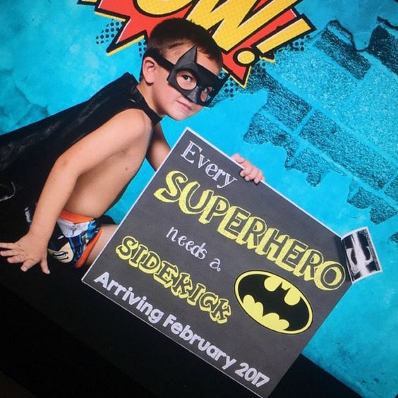 Every Superhero Needs A Sidekick, 2nd Pregnancy Announcement, Baby Reveal, Pregnancy Reveal, Sibling Announcement, 2nd Baby, Chalkboard Sign by PrintsInspiredByMyah on Etsy