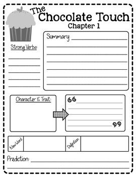 THE CHOCOLATE TOUCH READING PACKET FREEBIE | Create●Teach●Share ...