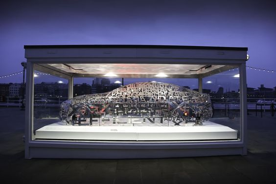 Jaguar has unveiled a unique aluminium word cloud sculpture in the shape of its new XE sports saloon at the Design Museum in London. The word cloud sculpture features a total of 95 words in French, German, Spanish, Italian, English, Russian and Mandarin...
