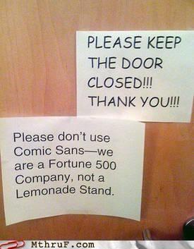 Font humor :)