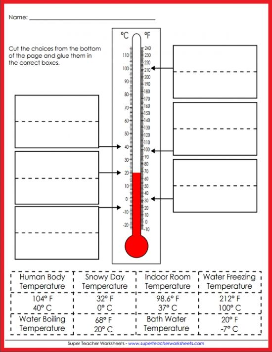 Teach your students all about temperature! Super Teacher Worksheets ...