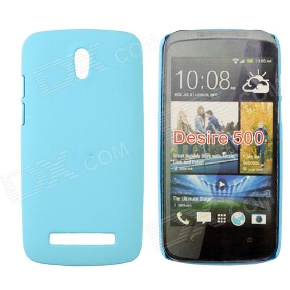 Brand: N/A; Quantity: 1 Piece; Color: Sky Blue; Material: Plastic; Compatible Models: HTC Desire 500; Other Features: Ultra-thin design; Easy to install and remove; Allows full access to all ports and buttons; Protect your cell phone from scratches, dust and shock; Packing List: 1 x Plastic case; http://j.mp/1torywZ