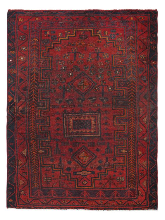 "Persian Hand-Knotted Rug (5'2""x6'8"") by Momeni at Gilt"