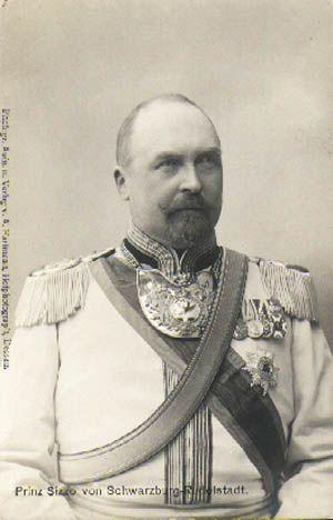 Prince Sizzo de Schwarzburg-Rudolstadt (1860-1926) époux de la princesse Alexandra d'Anhalt