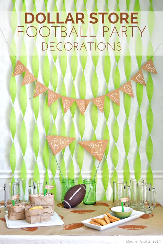 Dollar Store Football Party Decorations Bowls Party