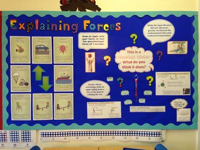Science and Investigation, Explaining Forces, Forces, Science, Newton, Display, Classroom display, Early Years (EYFS), KS1 & KS2 Primary Teaching Resources