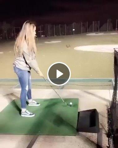 A primeira vez que fui joga golfe
