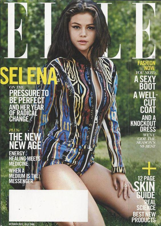Elle magazine Selena Gomez New age healing Skin guide Love addict confessions