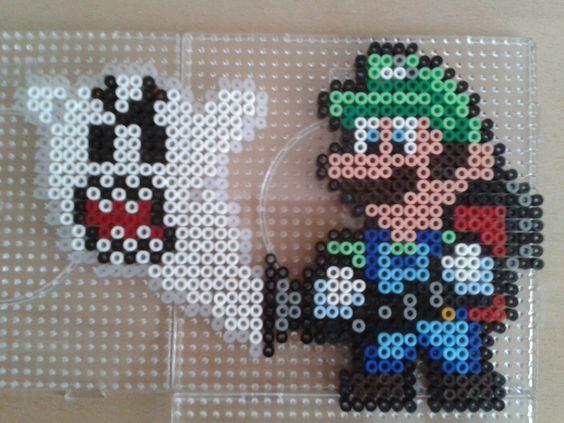 Luigi and Ghost hama beads by Anja Rattasepp