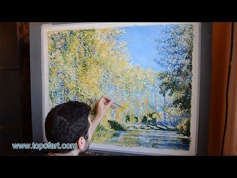 Art reproduction monet a bend in the river epte near for Oil painting lessons near me