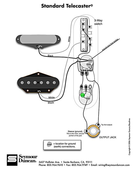 standard tele wiring diagram guitar wiring pinterest. Black Bedroom Furniture Sets. Home Design Ideas