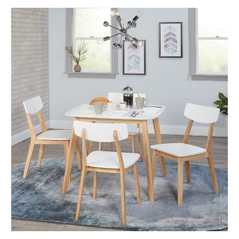 Perla Dining Table White Natural Buylateral Dining Sets Modern Modern Dining Table Dining Table