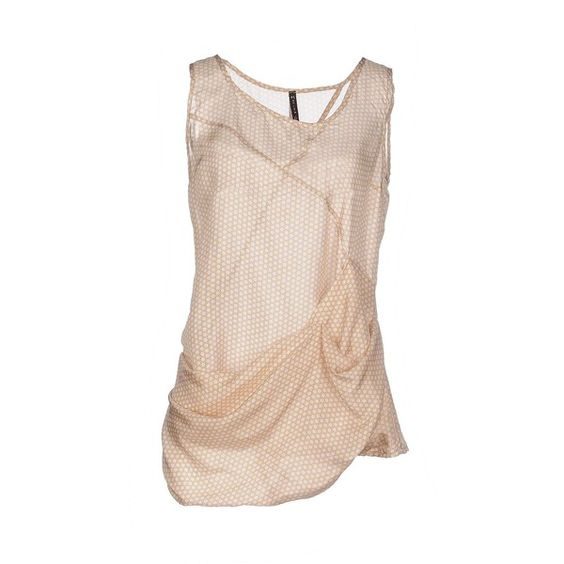 Manila Grace Top ($145) ❤ liked on Polyvore featuring tops, beige, sleeveless tops, manila grace, pink top, pink sleeveless top and beige top