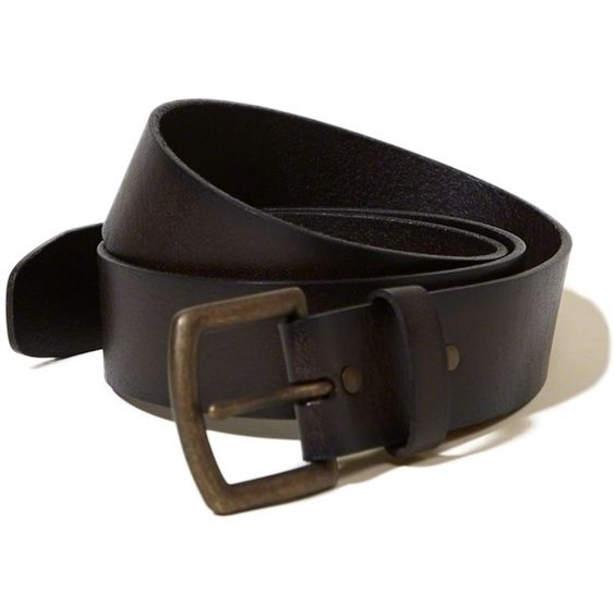 Hollister Classic Leather Belt ($30) ❤ liked on Polyvore featuring men's fashion, men's accessories, men's belts, dark brown and leather belts