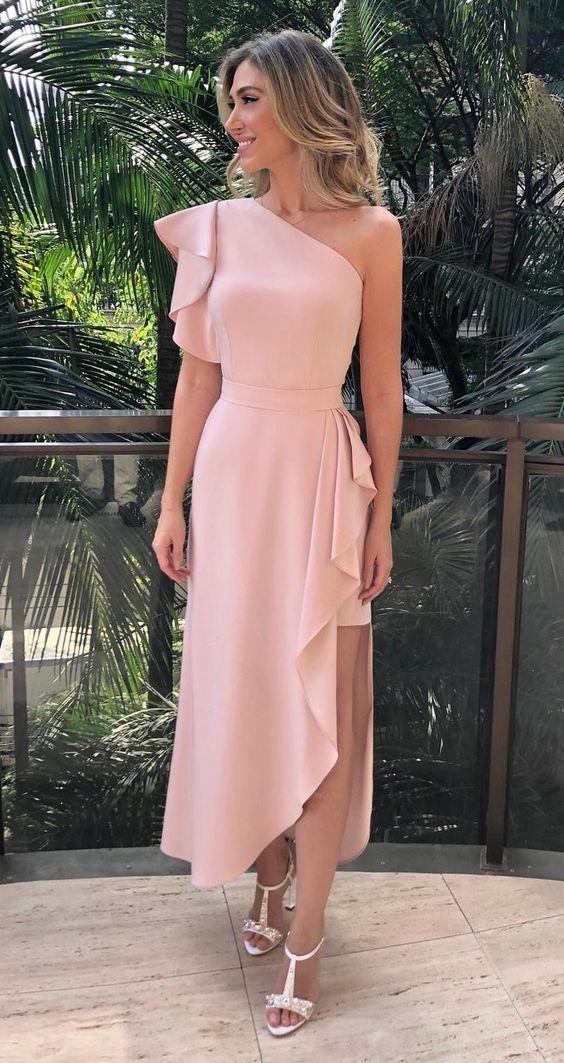 vestido de formatura elegante comportado