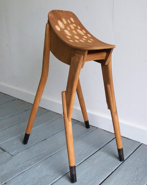 Something to fawn over.: Fawn Stool, Deer Chair, James D'Arcy, Plumb Bambi, Deer Stool, Bambi Stool, Bambistool