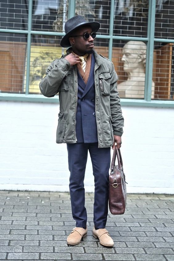 YinkaJermaine - Unorthodox Tailored Look: Military Jacket
