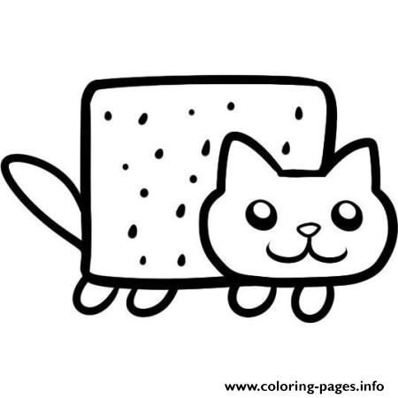 Simple Nyan Cat Coloring Pages With Images Nyan Cat Cat