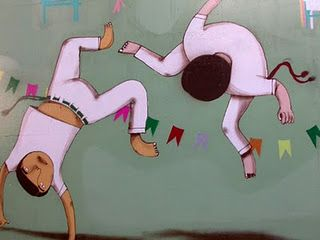Brazilian graf style - Capoeira martial art from Africans in Brazil