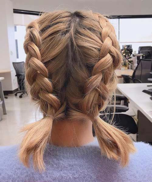 64 Adorable Short Hair Updos That Are Supremely Easy To Copy Ecemella Adorable Copy Easy Ecemella Short Hair Updo Braided Hairstyles Thick Hair Styles