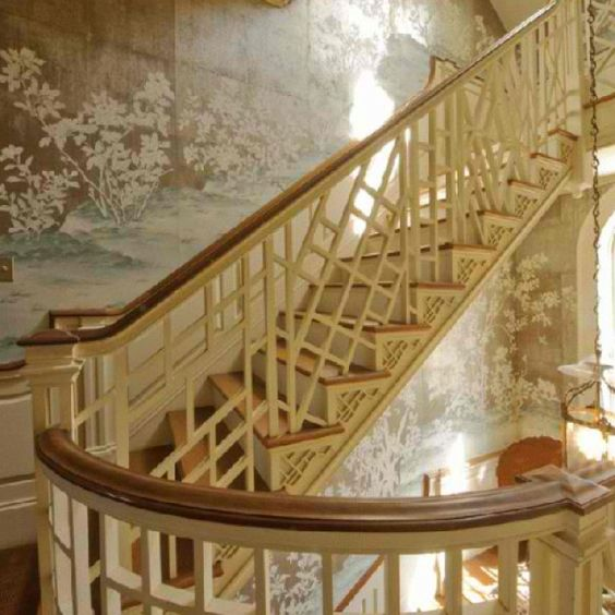 Chinese Chippendale staircase