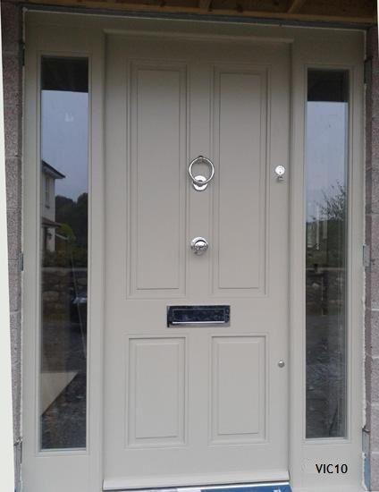 Doors front doors and victorian door on pinterest for Front door and side panel