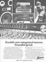Zenith Stereo System 1979 Ad Picture