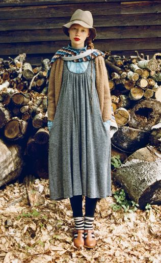Love this look, the colours together are great, but I'd have to wear my chunky DM boots.