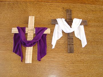 Love this clothespin cross craft!: