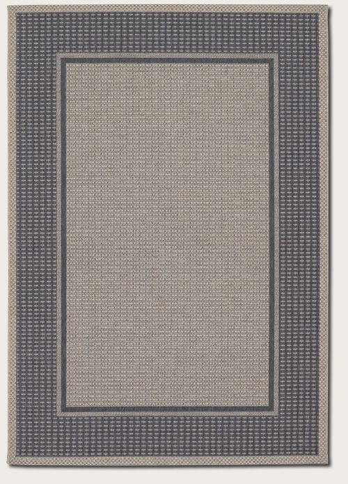 Couristan - Couristan Tides Astoria Charcoal-Grey Area Rug #54595