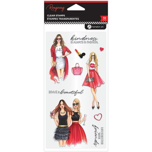 Hampton Art Kindness Is Always In Fashion Clear Stamps Sc0968 In 2020 Hampton Art Clear Acrylic Stamps Clear Stamps