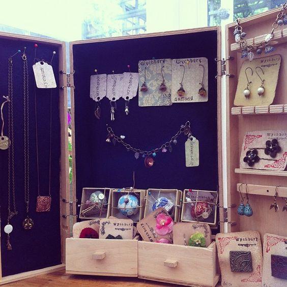 Wychbury shop display for jewellery.