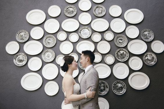 Plate wall. This would be so cool!