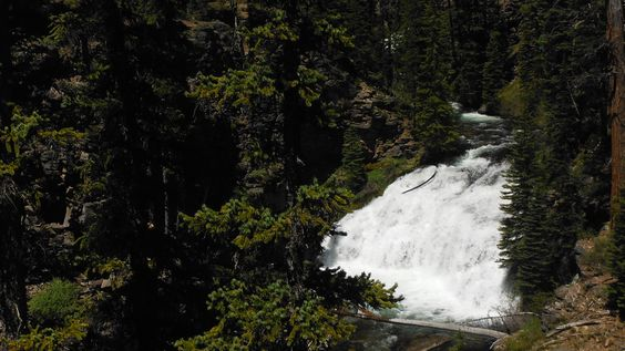 One out of several falls along the Tumalo Falls trail - Bend, Oregon