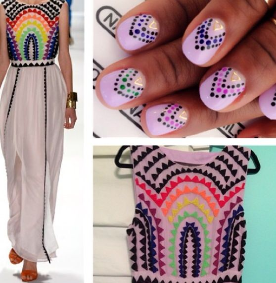 #runway #nailinspo #nailsbyyoko #losangeles #nails #nailart #naildesign #dots #color #fashion #inspiration
