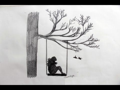 How To Draw A Girl Gossiping With Nature Pencil Drawing