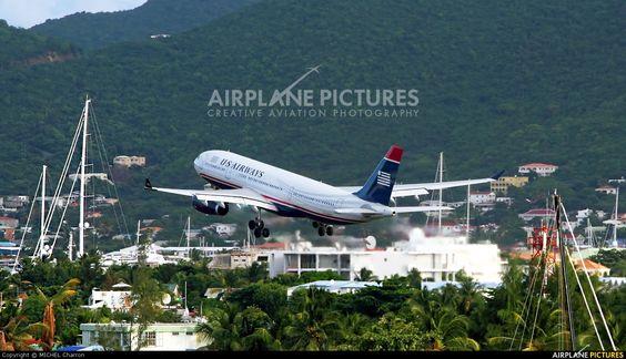 US Airways N286AY aircraft at St. Maarten, Princess Juliana Int.