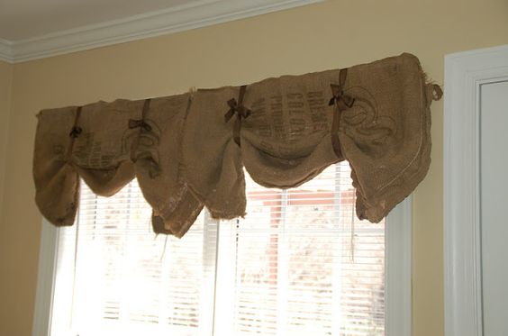 Thrifty Finds and Redesigns: Burlap Curtains