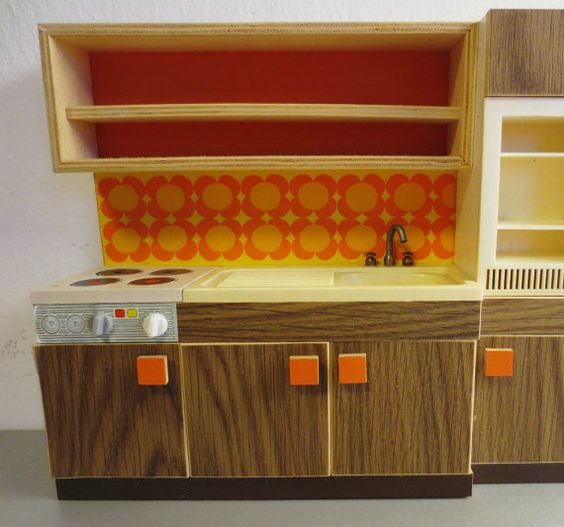 70s Original Bodo Hennig dollhouse kitchen. by ideenreichBerlin