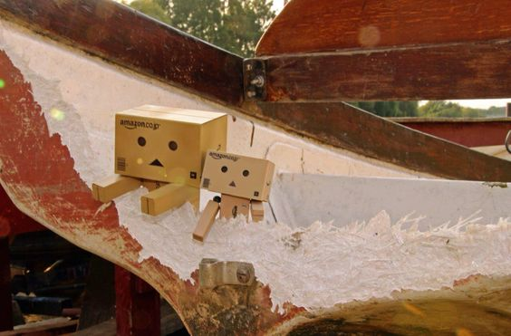A Danbo photo by Anita Russell. Broken boat